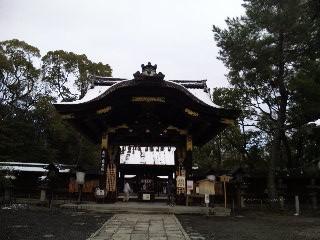 初詣 雪の豊国神社