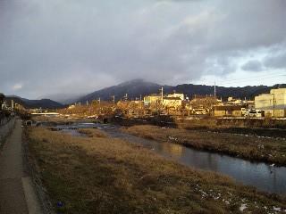 高野川と比叡山