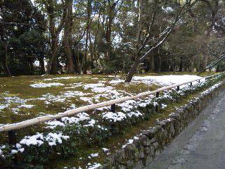 雪の鹿苑寺(<br />  金閣寺)その2