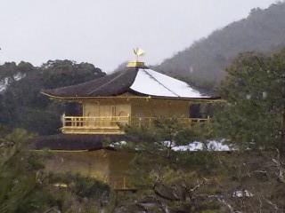 雪の鹿苑寺(<br />  金閣寺)その13  金閣11
