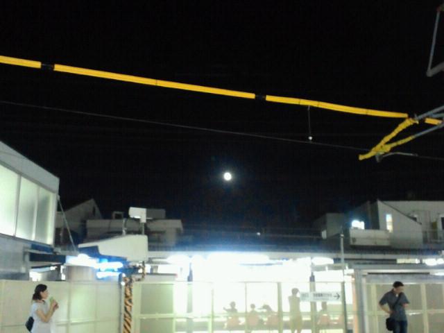 JR東福寺駅の十六夜月