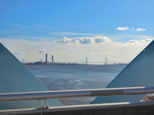 名古屋ポートブリッジから見た海2