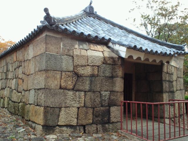 大阪城西の丸・焔硝蔵