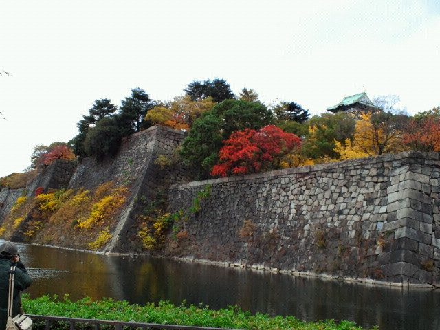 大阪城の堀と紅葉3