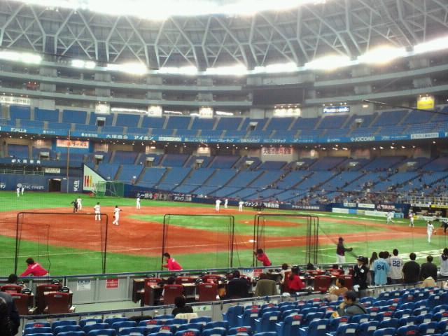 プロ野球オープン戦オリックスバファローズ対東京ヤクルトスワローズ