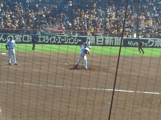 阪神タイガース 5<br />  回表から藤川球児がマウンドへ