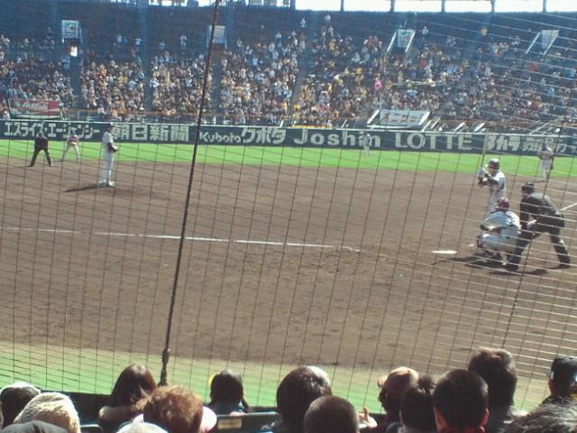 5回裏二死二塁ヤクルト・日高対阪神・鳥谷
