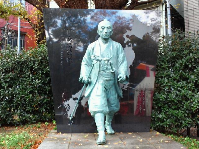富岡八幡宮伊能忠敬銅像