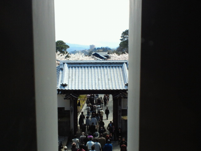 石川門内部からの眺め