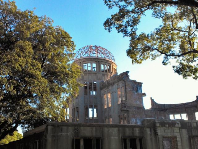 原爆ドーム夕景