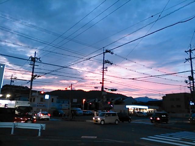 京・西山 夏の夕暮れ