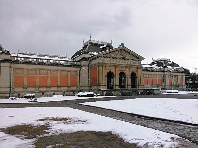 雪の京都国立博物館・明治古都館 平成二十七年正月二日