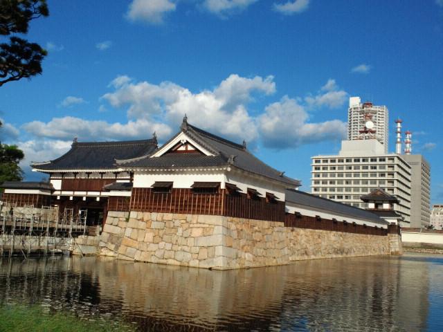 広島城平櫓、表御門、多聞櫓、太鼓櫓