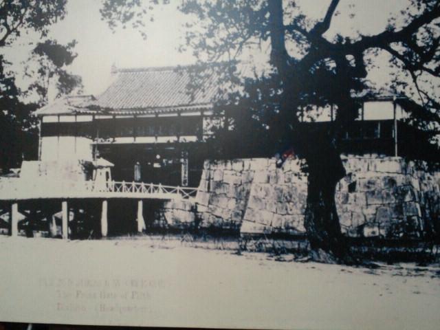 原爆で消失前の表御門と平櫓