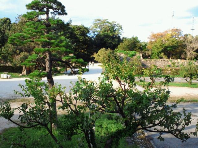 多聞櫓から見た広島城二の丸の眺め