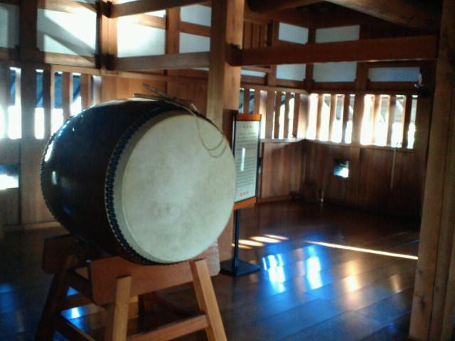 広島城二の丸太鼓櫓の太鼓