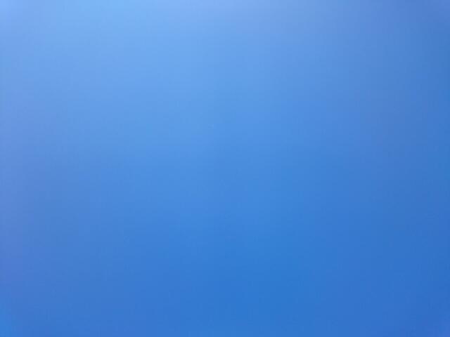 満点の青空