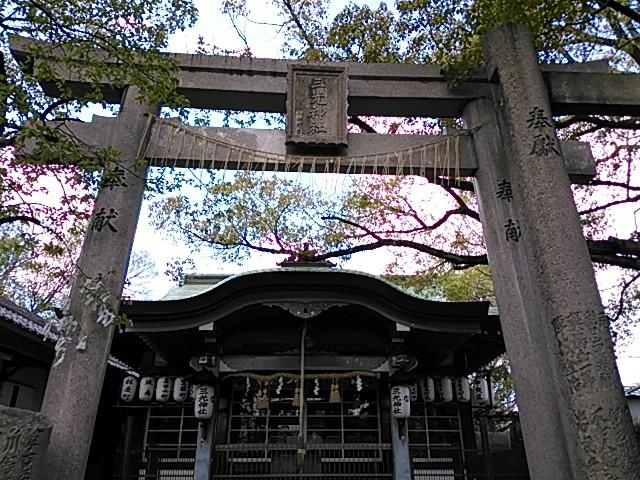 三光神社 鳥居と社殿
