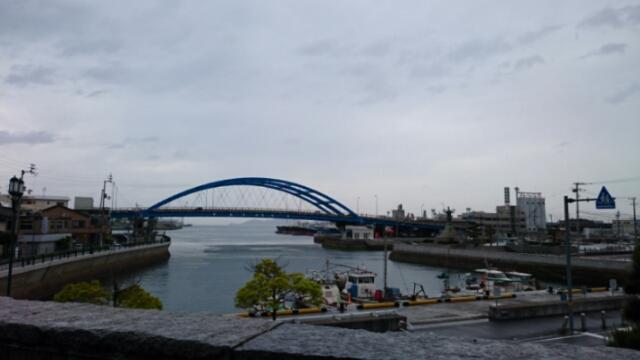 丸亀港と京極橋