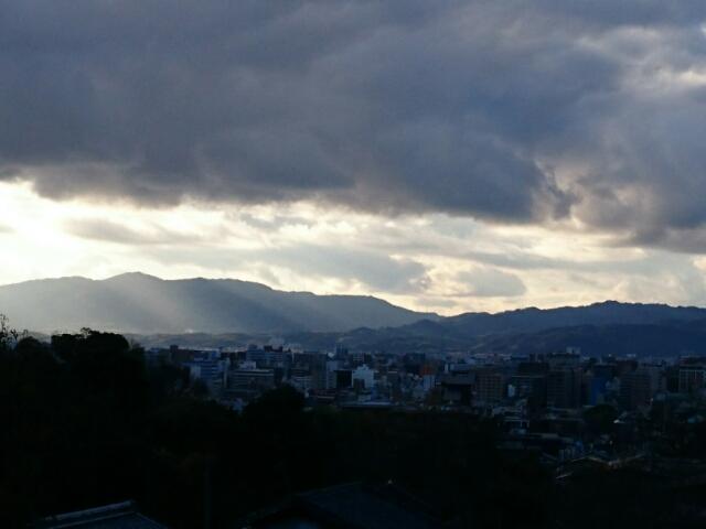 大谷祖廟六角堂前から見た京都市街