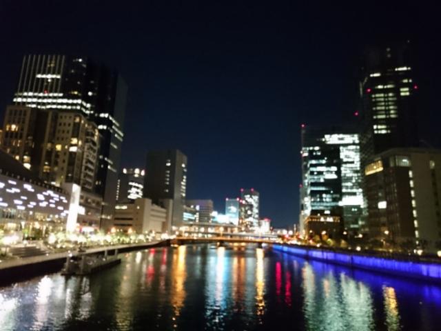 夜の玉江橋にて