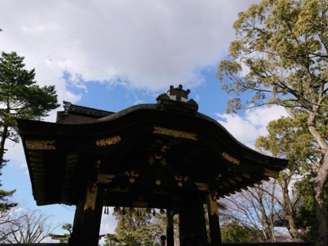 豊国神社唐門 内陣からの撮影