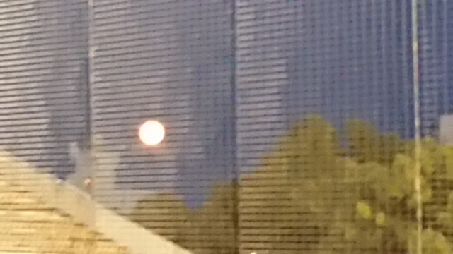 わかさスタジアム京都で見た満月