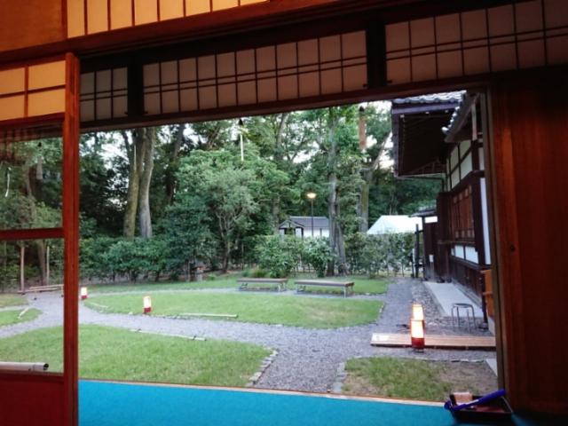 旧三井下鴨別荘夜間特別開館(2)